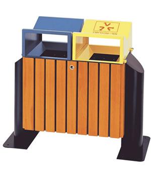 M-10钢木环保垃圾桶