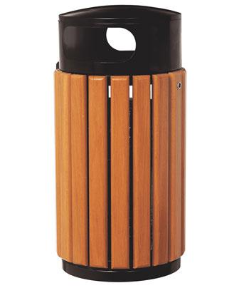 防腐木质果皮箱016