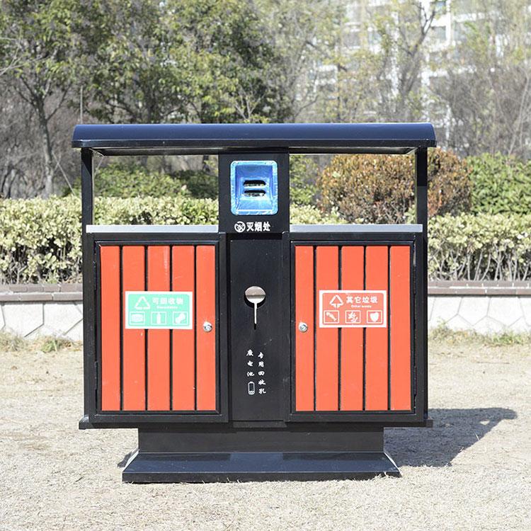 M-08钢木分类垃圾桶